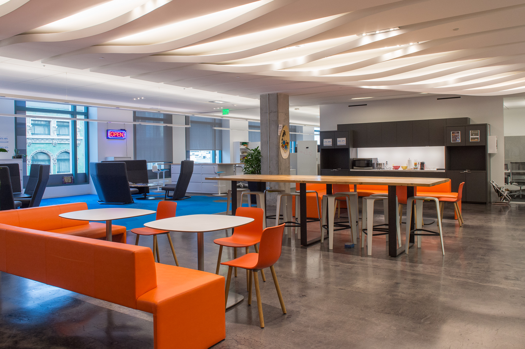 the lovely akamai offices are a ten minute cab ride or a 30 minute walk depending on the weather join us and our after party hosts for food drink adobe san francisco office